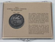 NACA Medallion With Metal From Curtiss Jenny