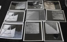 Nine Vintage Surveyor NASA Glossy Photos