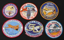 Six Different Dryden Flight Research Center Patches