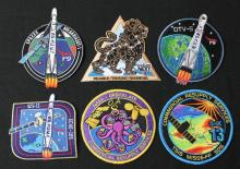 Six Different SpaceX Patches