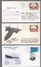 Three Pilot Signatures on Record SR-71 Covers