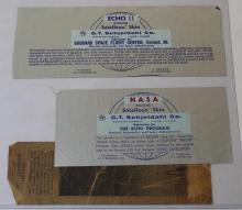 Two Swatches of Echo II Program Balloon Skin, 1964