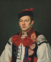 Portrait of a Man in Traditional Czech Costume