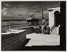 Man with Bicycle & [Queen] of Bermuda
