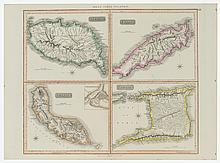 John Thomson West Indian Islands Map, Ca. 1820