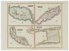 John Thomson West Indian Islands Map, Ca. 1820