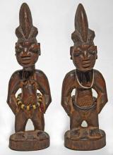 Pair of Yoruba ibeji figures