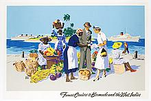 Furness Cruises to Bermuda and the West Indies Vintage Travel Poster