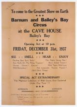 Barnum and Bailey's Bay Circus (Bermuda) Advertisement Poster