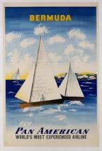 Pan American Bermuda Travel Poster