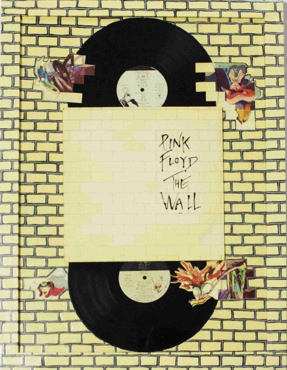 Pink Floyd The Wall Album with Hand Painted Background