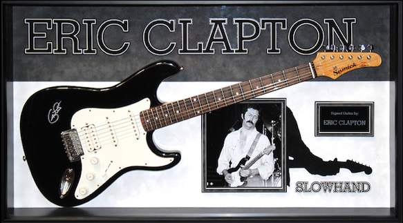 eric clapton signed and framed guitar slow hand. Black Bedroom Furniture Sets. Home Design Ideas