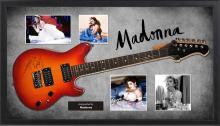 Madonna Signed and Framed Guitar