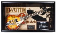 Led Zeppelin Signed and Framed Guitar