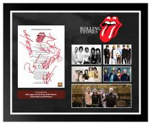 Rolling Stones I Can't Get No Satisfaction Signed Lyrics