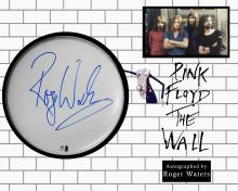 Pink Floyd The Wall Signed Drum Head