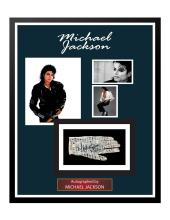 Michael Jackson Signed and Framed Glove