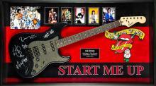 Rolling Stones Signed and Framed Guitar Start Me Up