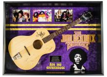 Jimi Hendrix Acoustic Signed and Framed Guitar