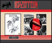 Led Zeppelin Stairway To Heaven Signed Lyrics