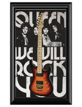 Queen Signed and Framed Guitar - We Will Rock You