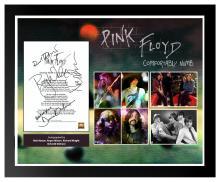 Pink Floyd Comfortably Numb Signed Lyrics