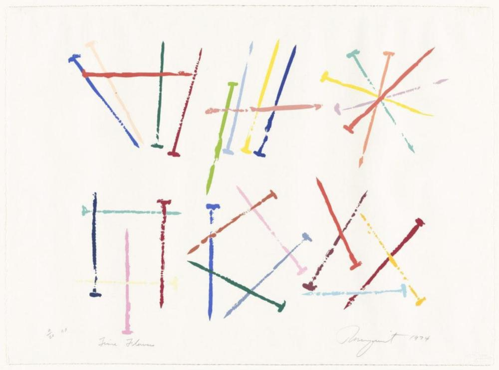 """JAMES ROSENQUIST """"TIME FLOWERS"""" 8/20 AP SIGNED"""