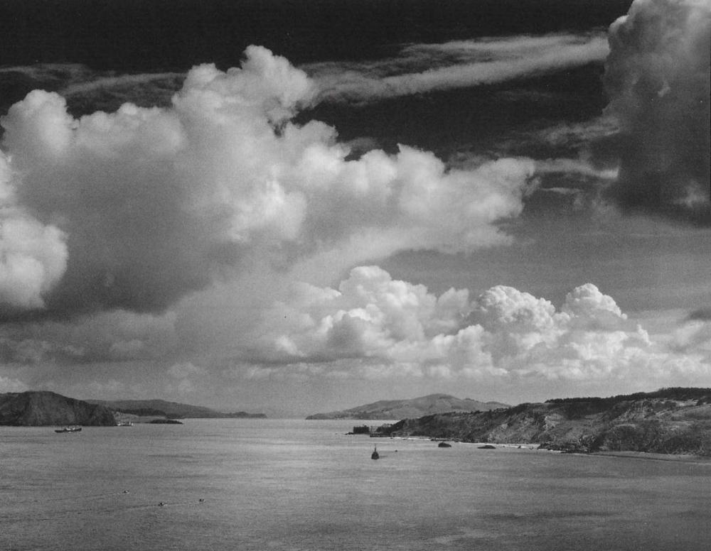 ANSEL ADAMS, GOLDEN GATE BEFORE THE BRIDGE, SAN FRANCISCO 1932