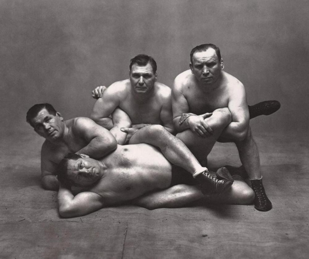 IRVING PENN - FOUR DUSEK BROTHERS IN NY, 1948