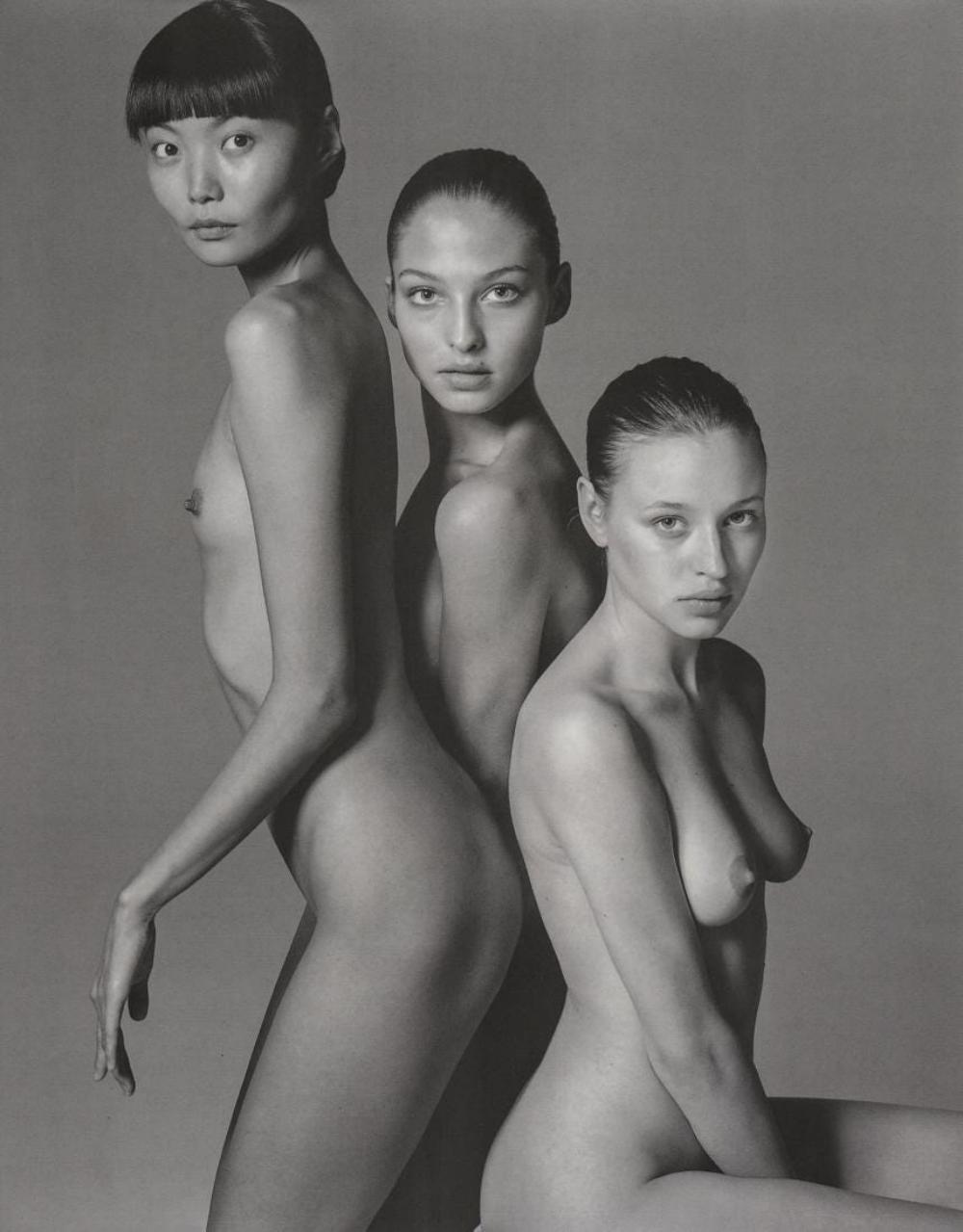 RICHARD AVEDON - KRISTINA, IRINA AND TATIANA Z., 1997
