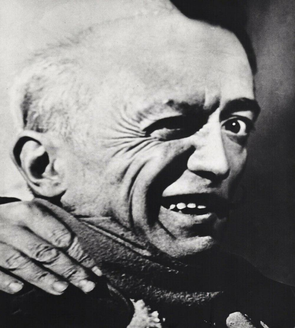 PHILIPPE HALSMAN, PICASSO BEING DALI SURREAL FACE, 1954