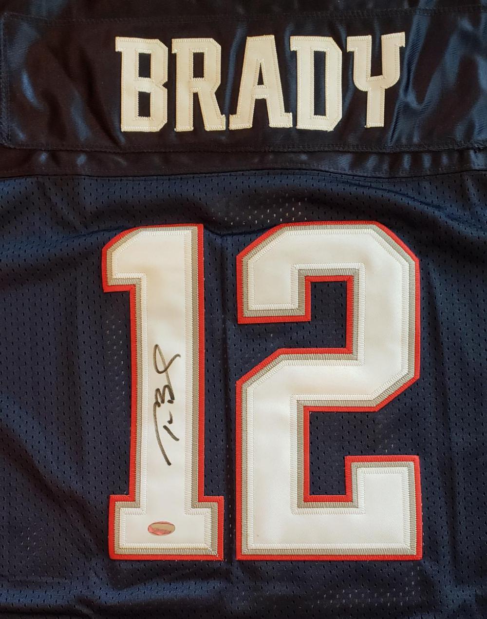 Tom Brady Autograph Jersey Mounted Memories