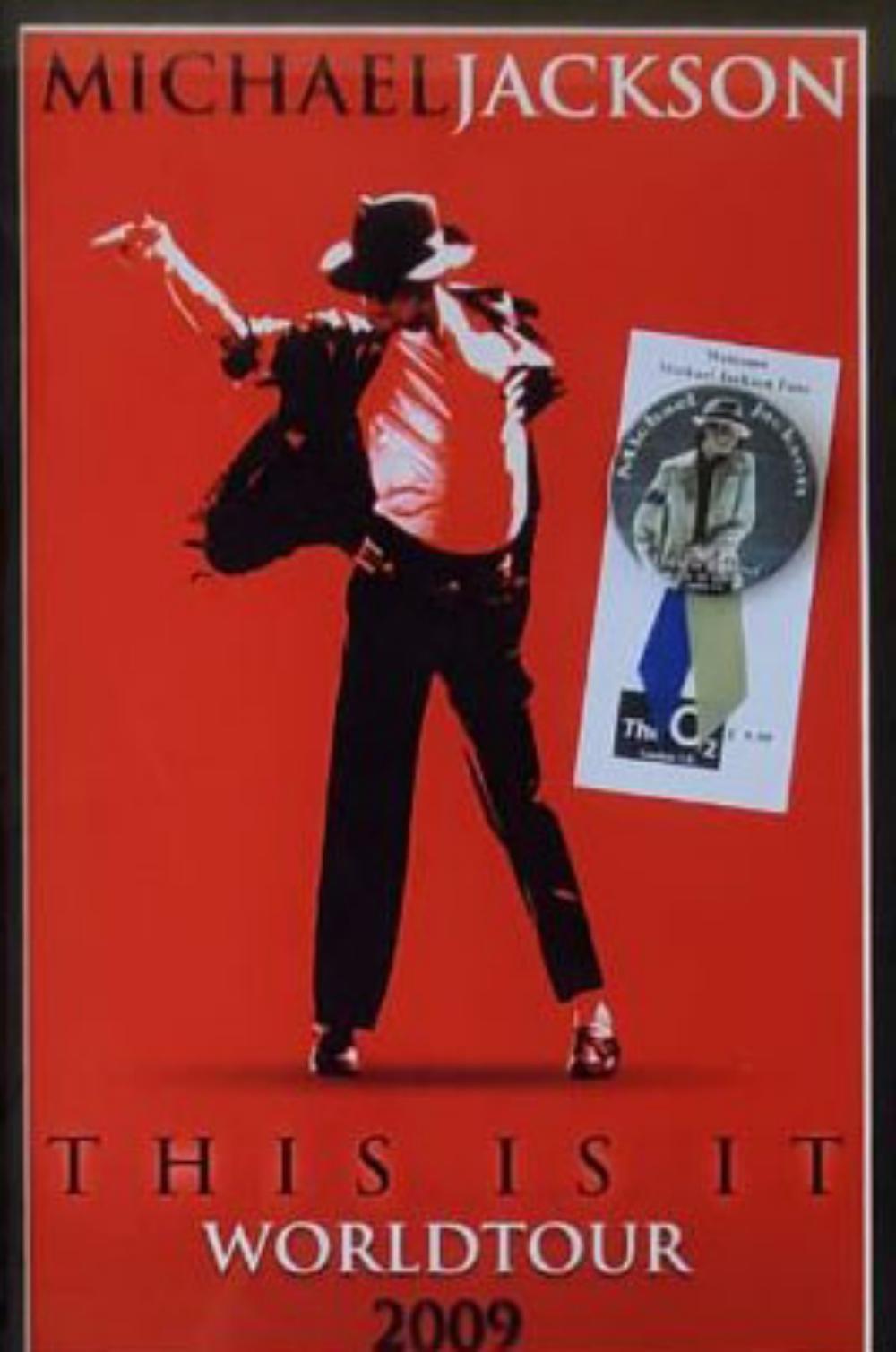 MICHAEL JACKSON, FRAMED ORIGINAL 2009 TOUR W/PIN