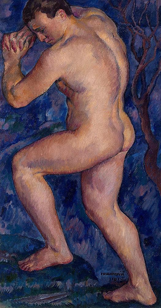 NIVINSKY, IGNATY (1880-1933) Nude, signed and