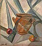 BOGOMAZOV, ALEKSANDR 1880-1930 Still Life with a Pot signed with initials and dated 1915. Oil on canvas laid on board, 44 by 39.5 cm. Authenticity