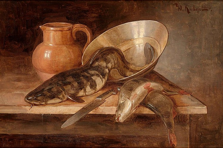 KLEVER, YULI (THE YOUNGER) 1882-1942 Still Life with Fish