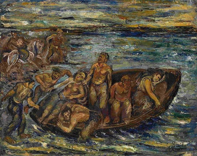 PAILES, ISAAC 1895-1978 At the Sea