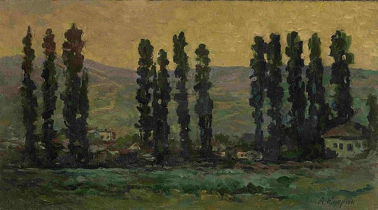 KUPRIN, ALEXANDR 1880-1960 Poplars