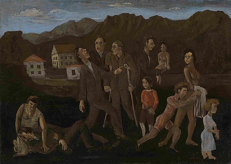 MICHONZE, GRÉGOIRE 1902-1982 Village Gathering