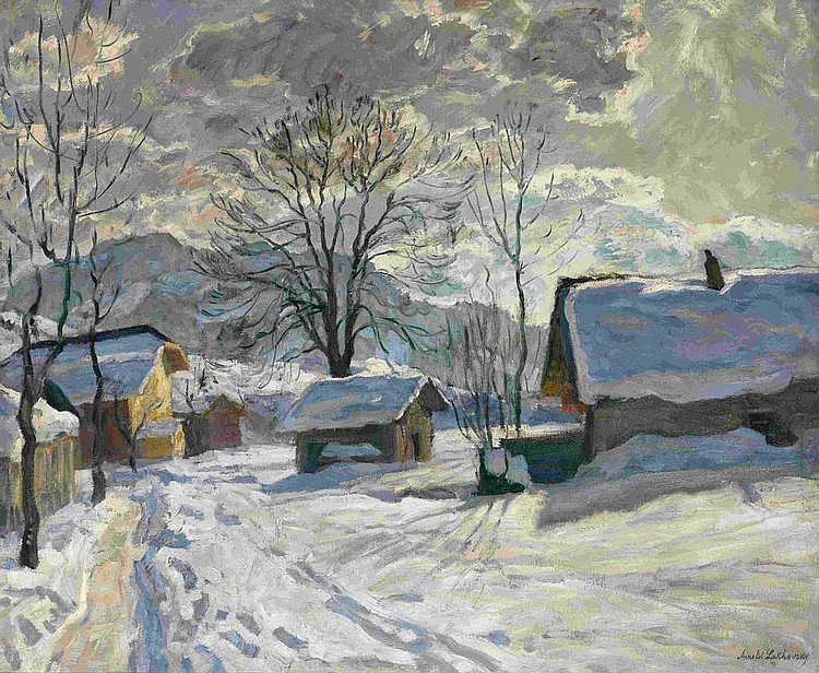 LAKHOVSKY, ARNOLD 1880-1937 Village in Winter