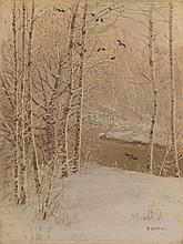 *DUBOVSKOY, NIKOLAI (1859-1918), River Running Through a Wintry Forest