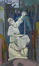 *BOGOMAZOV, ALEKSANDR (1880-1930) Väinämöinen Playing the Kantele