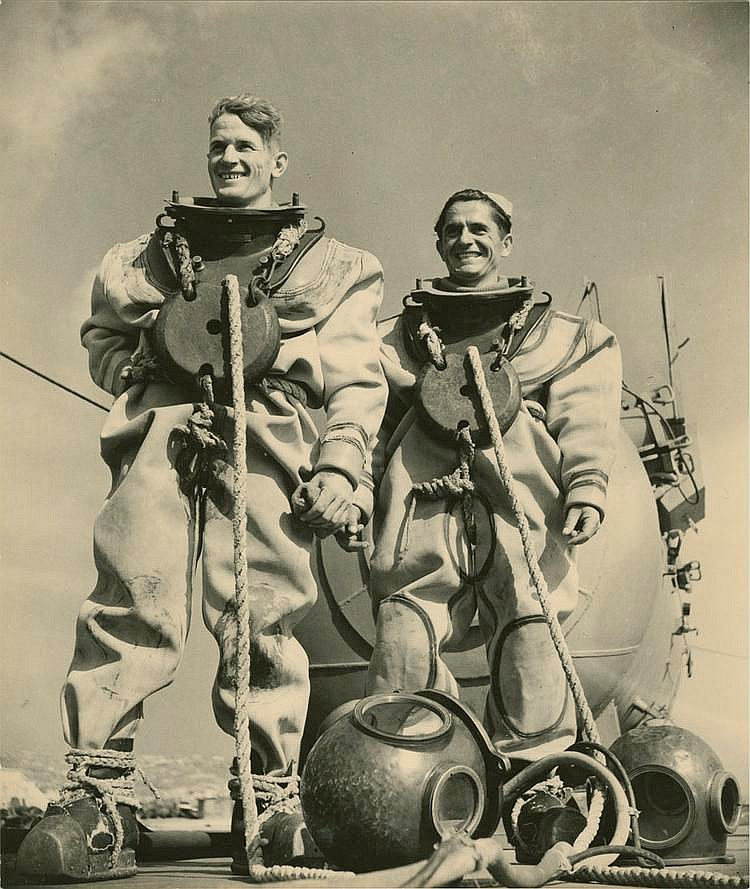 RIUMKIN, YAKOV (1913-1986), The Black Sea Divers, stamped with the photographer's stamp on the reverse.