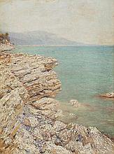 DUBOVSKOY, NIKOLAI (1859-1918), Rocky Coast, signed and dated 1913 on the reverse.