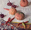 SVETLAKOV, SERGEI (B. 1961), Still Life with Pumpkins, Red Chillies and Onions, signed, also further signed and dated 2013 on the reverse., Sergei Svetlakov, Click for value
