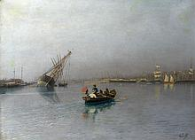LAGORIO, LEV (1826-1905) Harbour Scene