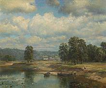 WELTZ, IVAN (1866-1926) By a River