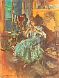 KOROVIN, KONSTANTIN 1861-1939 Ballerina in a Green Dress signed and dated 1921, oil on canvas, 87 by 66 cm. Provenance: Fedor Kosloff Collection. , Konstantin Korovin, Click for value