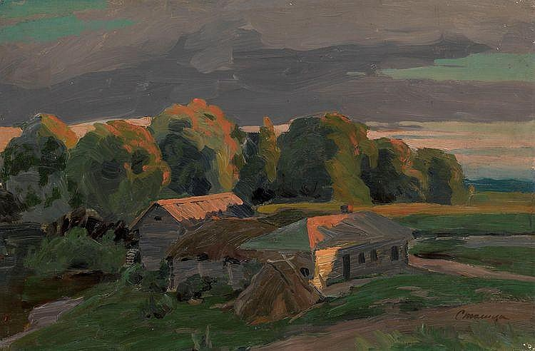 STOLITSA, EVGENI (1870-1929) Ukrainian Village in