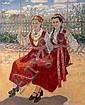 BOGDANOV-BELSKY, NIKOLAI (1868-1945) Two Girls on
